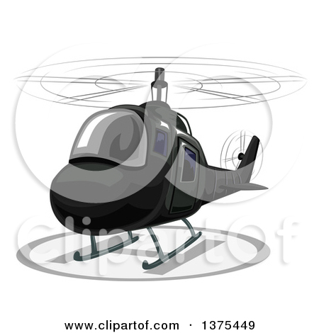 Cartoon of a Remote Controlled Helicopter Toy.