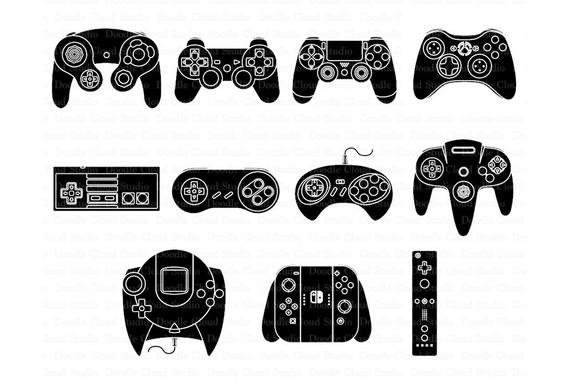 Game Controller SVG Files, for Silhouette Cameo and Cricut. Game.