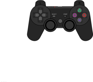 Ps3 controller clip art.