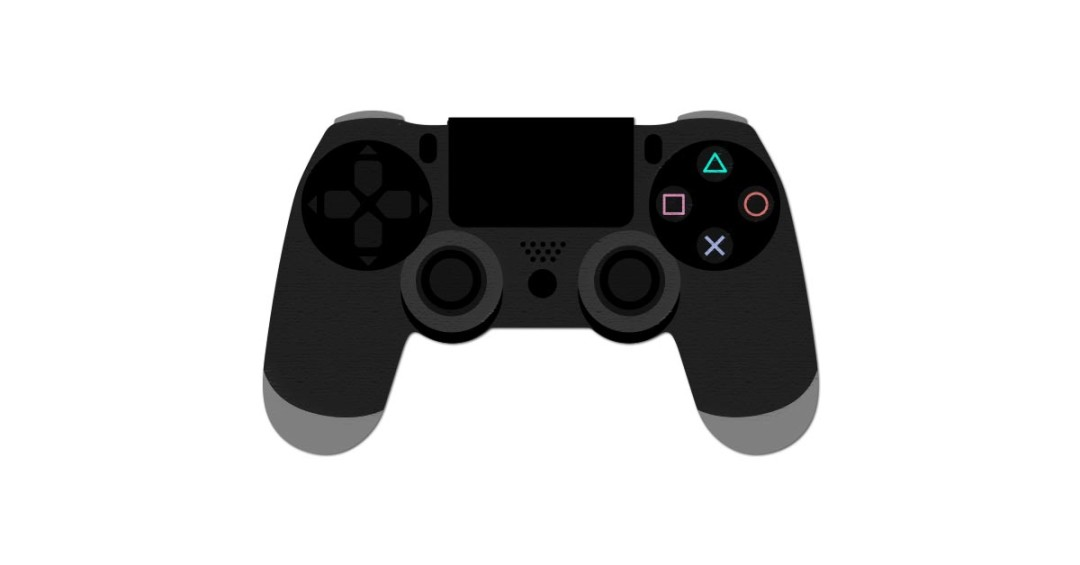 PlayStation 4 Controller Vector and PNG.