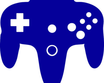 Nintendo game controllers clipart.