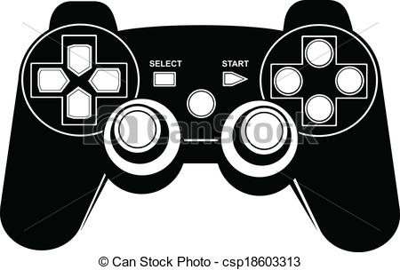 Game controller vector clip art.
