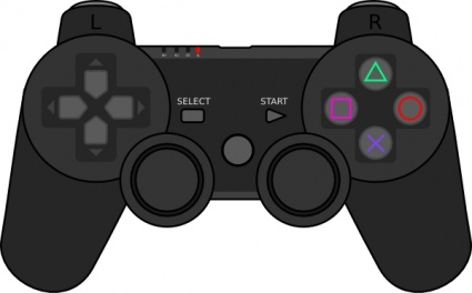 Playstation controller clip art.