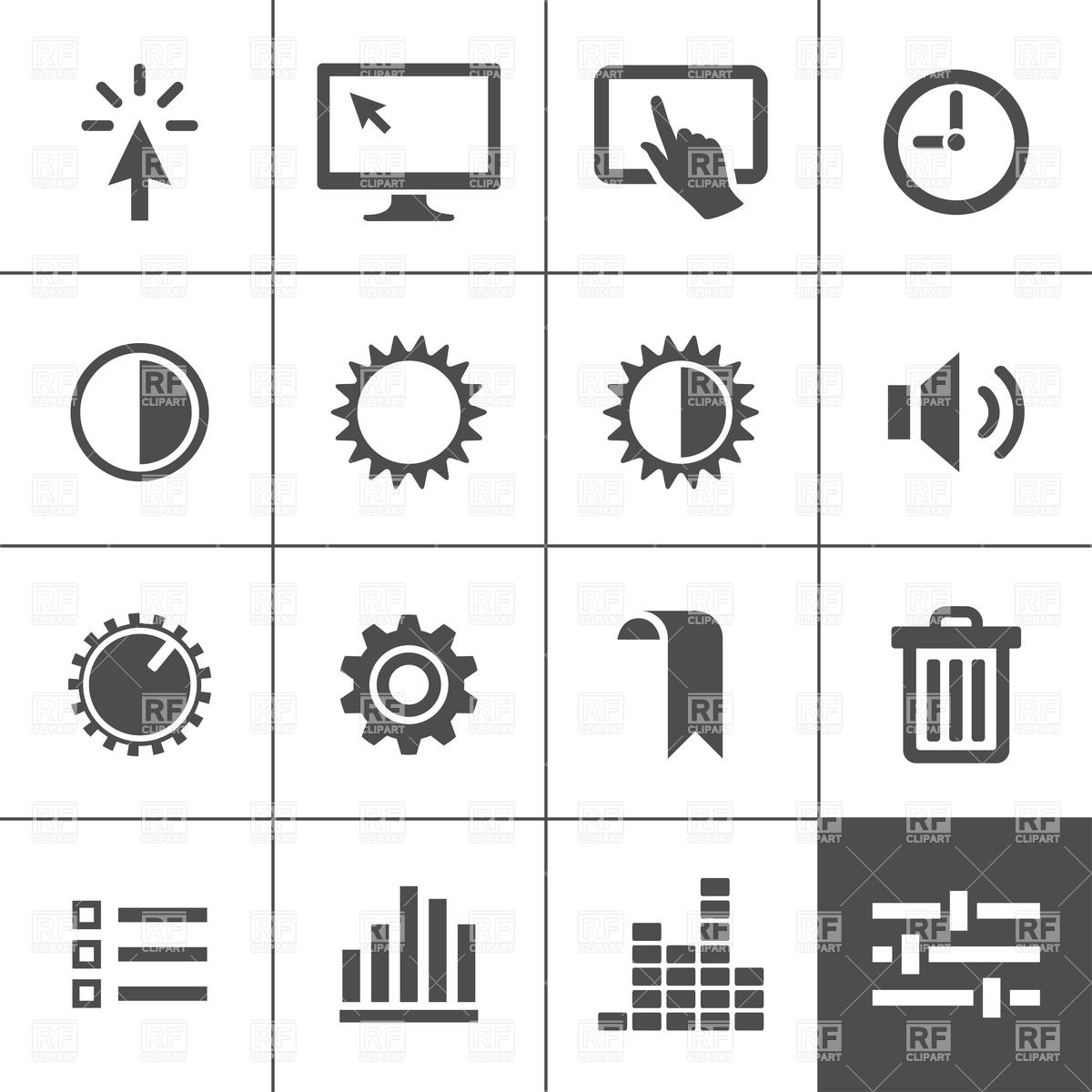 Controls and settings icon set Vector Image #20543.
