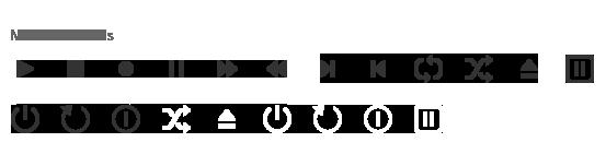 Windows 8 Icons Media Controls.
