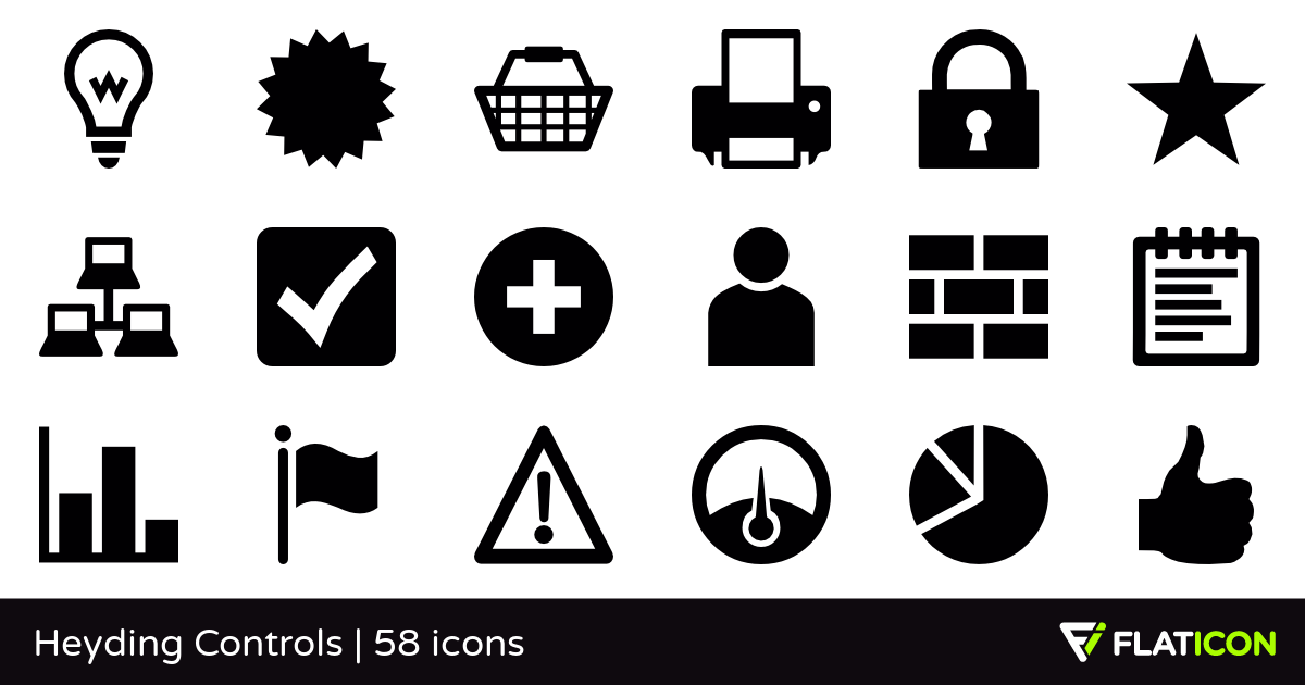 Heyding Controls 58 free icons (SVG, EPS, PSD, PNG files).