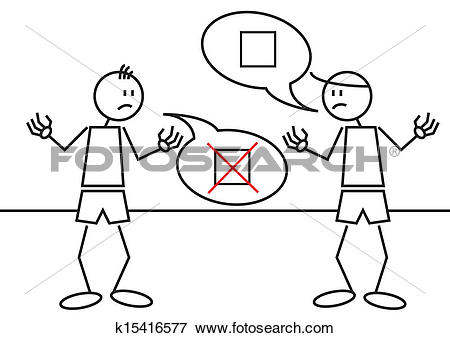Clip Art of Stick figures controversy k15416577.