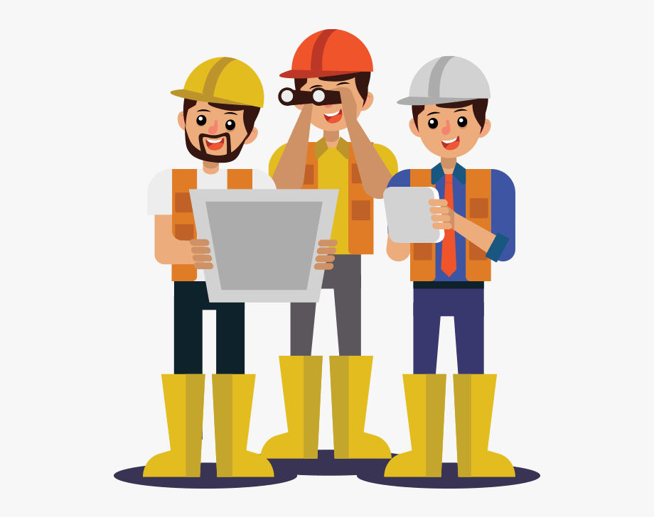 Contractor Clipart Construction Team.