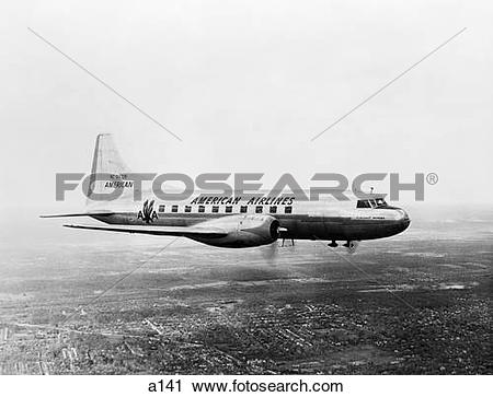Stock Photography of 1940S 1950S American Airlines Convair.