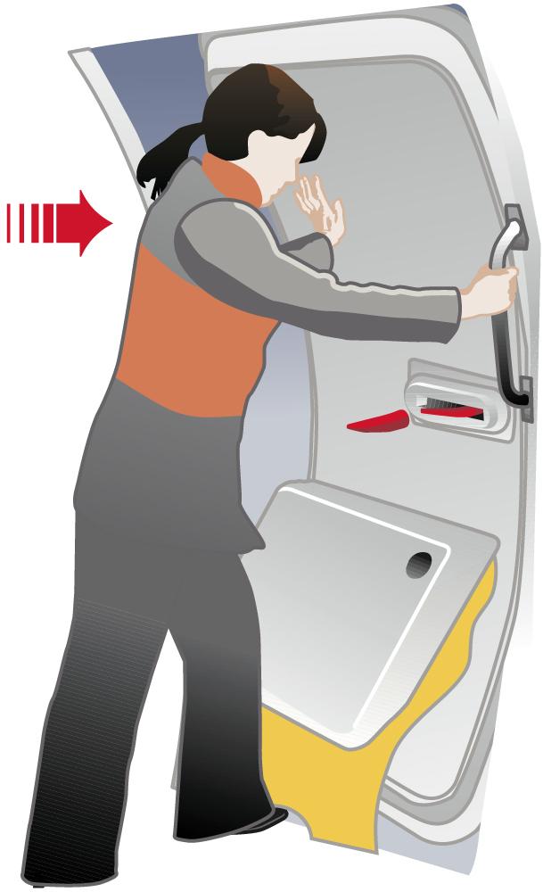 Convair safety card.