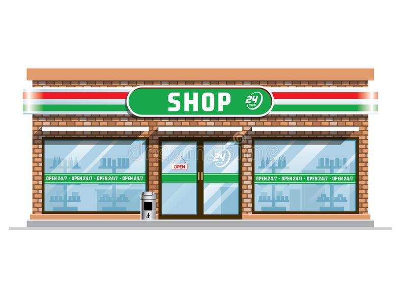 Convenience Store Stock Illustrations.