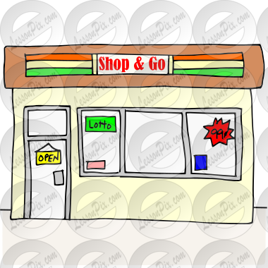 Convenience Store Picture for Classroom / Therapy Use.
