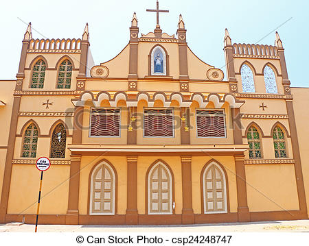 Stock Photo of convent and nunnery poducherry tamil nadu india.