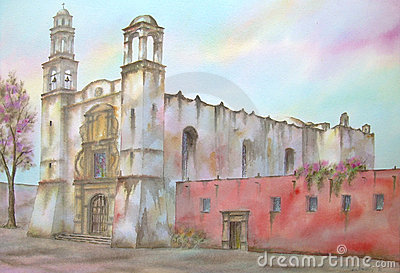 Mexican Santiago Convent Stock Image.