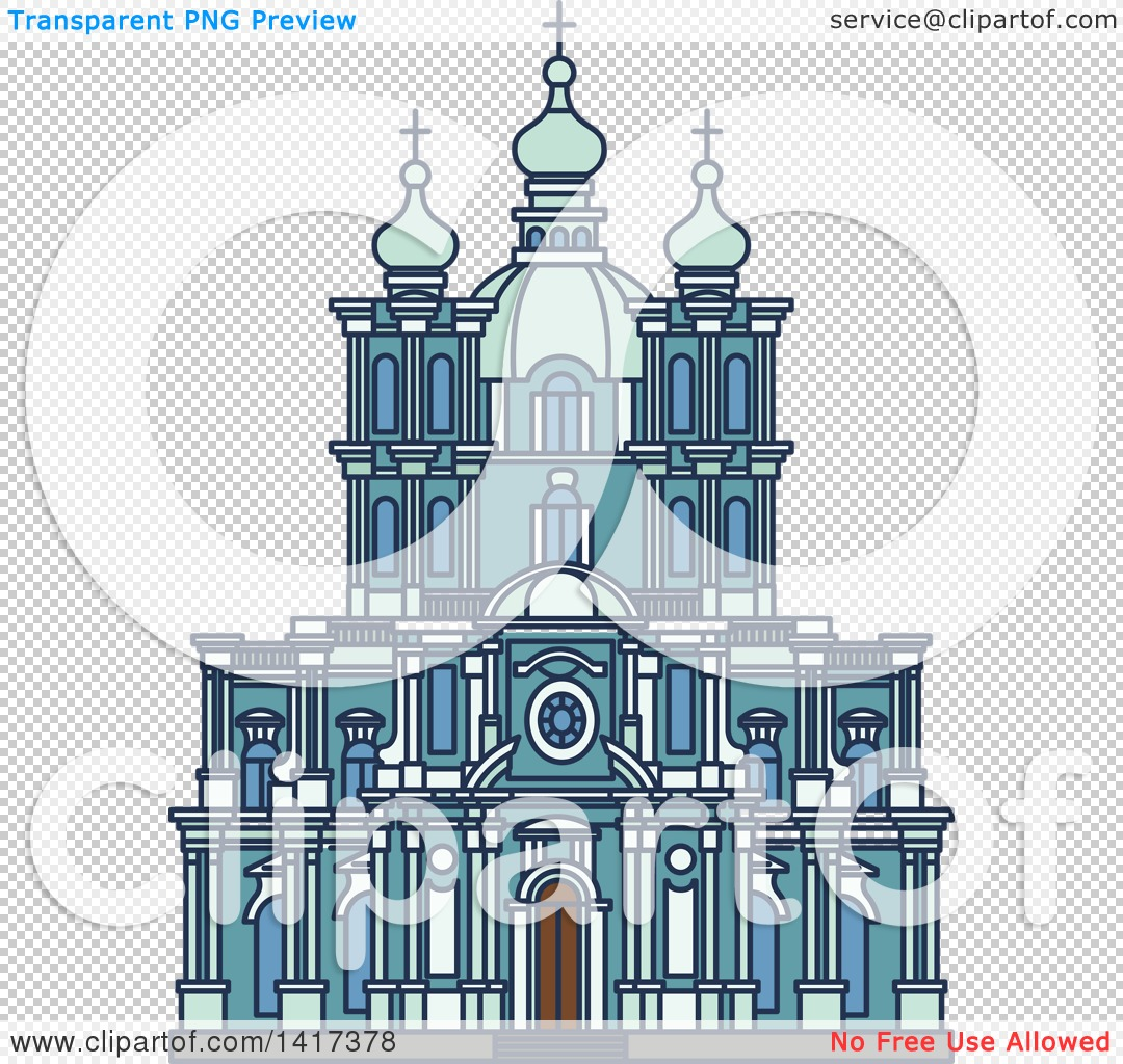 Clipart of a Russian Landmark, Smolny Convent.