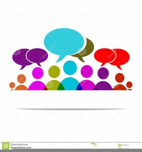 Group Conversation Clipart.