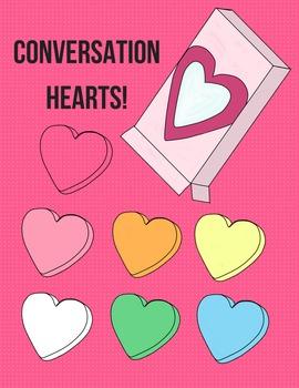 Blank Conversation Hearts Clip Art.