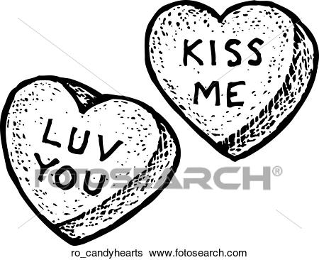 Candy Hearts Clip Art.