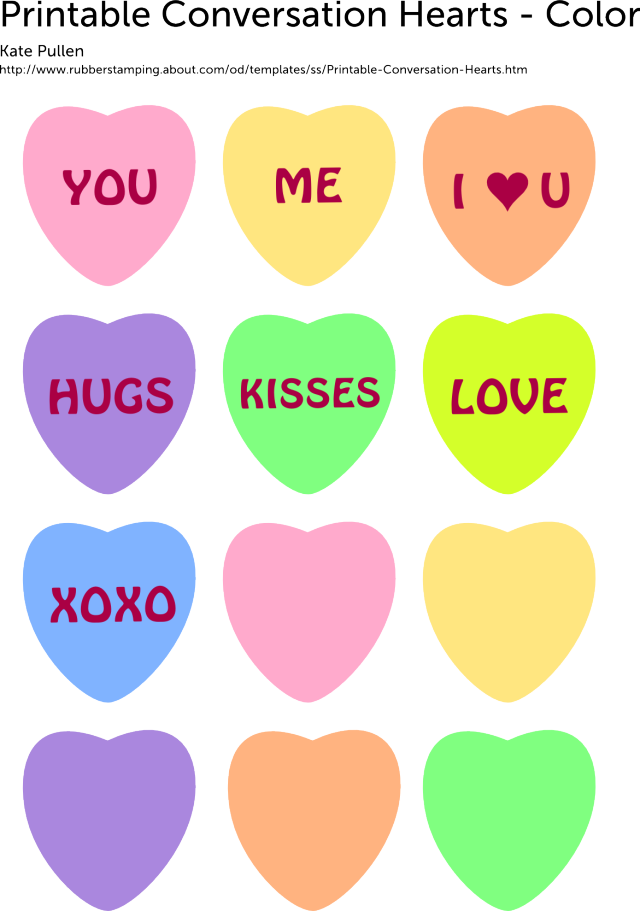 Print Out These 6 Sweet and Free Heart Templates.