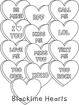 Conversation Hearts ~ Valentine's Day Clipart.