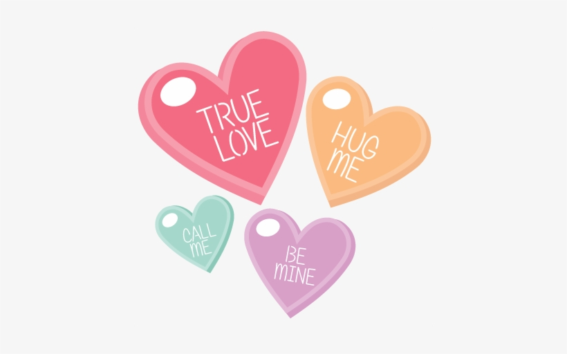 Png Free Download Candy Hearts Clipart.
