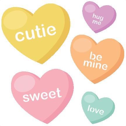 Candy Hearts SVG cutting files valentine svg files valentines svg.