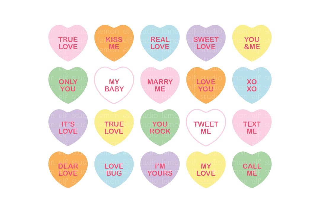 Conversation Hearts.