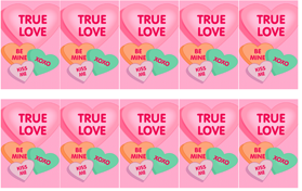 Conversation Heart Clipart and Valentines.