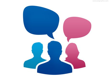 Team conversation icon (PSD) Clipart Picture Free Download.