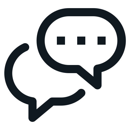 Balloon, chat, conversation, speak, word Icon Free of Basic UI 2 (Line).