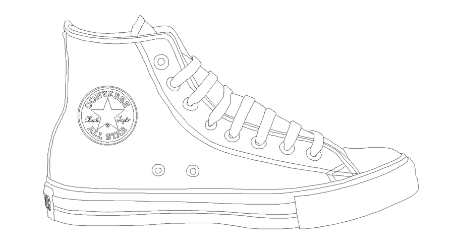 Converse ALL STAR template by katus.