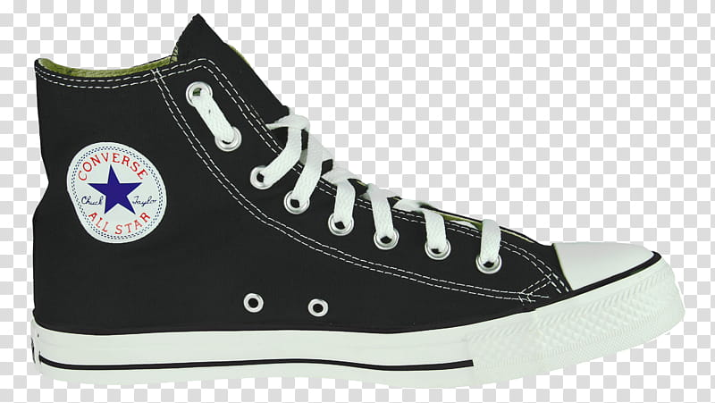 Unpaired black and white Converse All Star high.