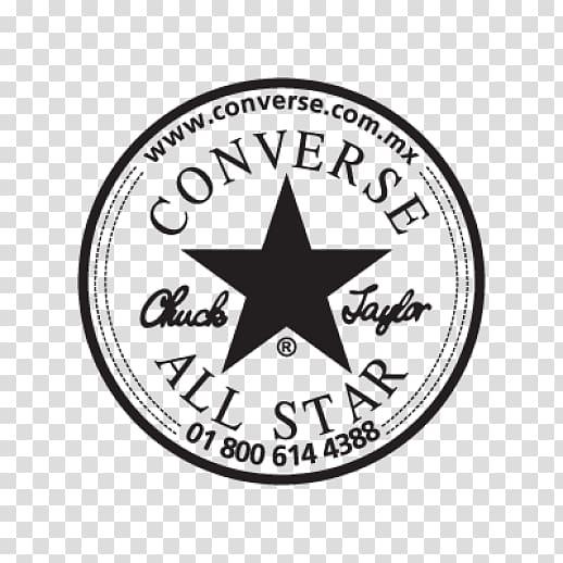 Round gray Converse All Star logo illustration, Chuck Taylor.