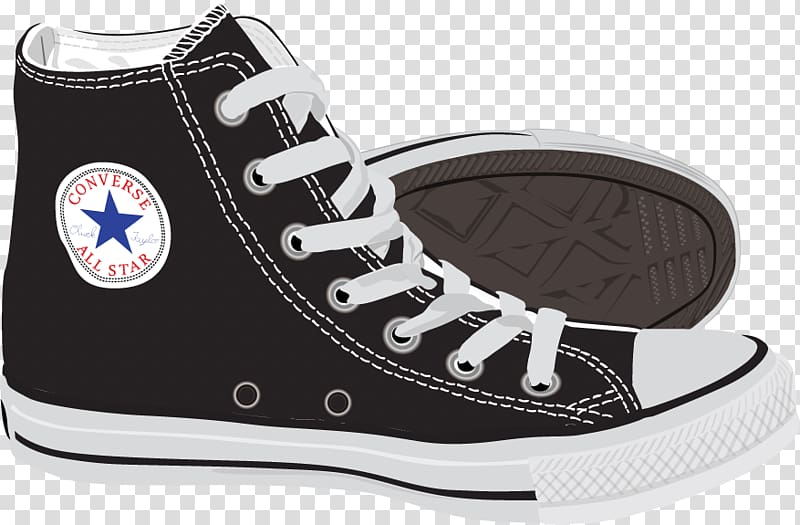 Pair of black Converse All.