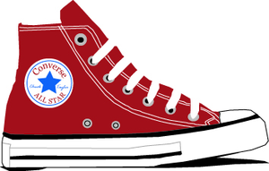 Chuck taylors hi tops free images at vector clip art.