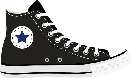 59 Converse Shoes Stock Vector Illustration And Royalty Free.