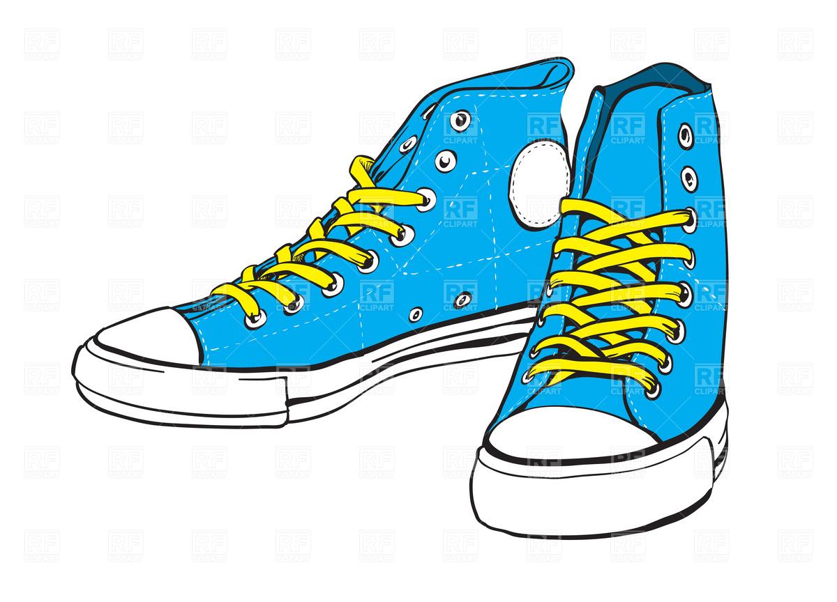 Clip Art Blue Converse Clipart.