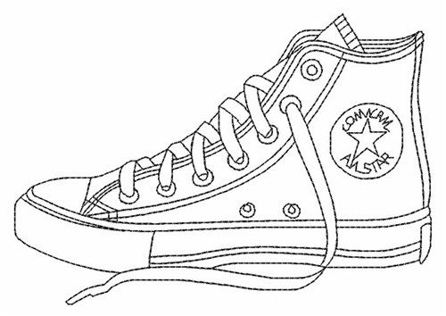 187 Converse free clipart.