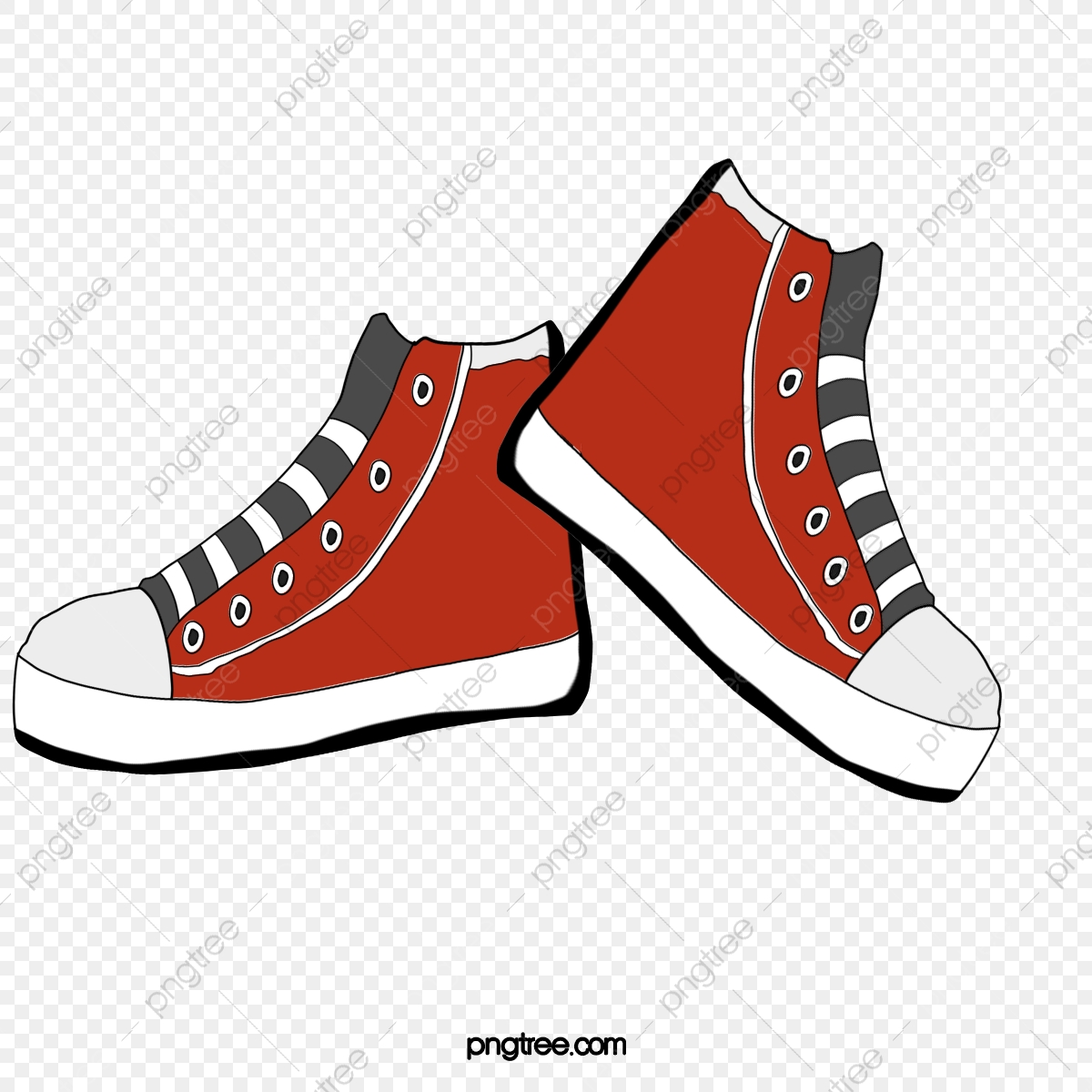 Converse Shoes Red Classic, Shoes Clipart, Converse, Red PNG.