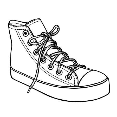 Converse shoes clipart 3 » Clipart Station.