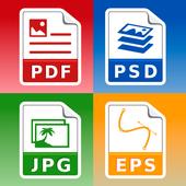 Conversor de imagenes y fotos: jpg pdf png eps psd for Android.
