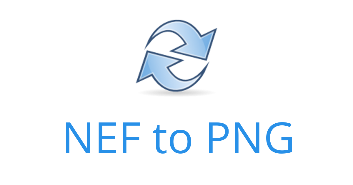 NEF to PNG.