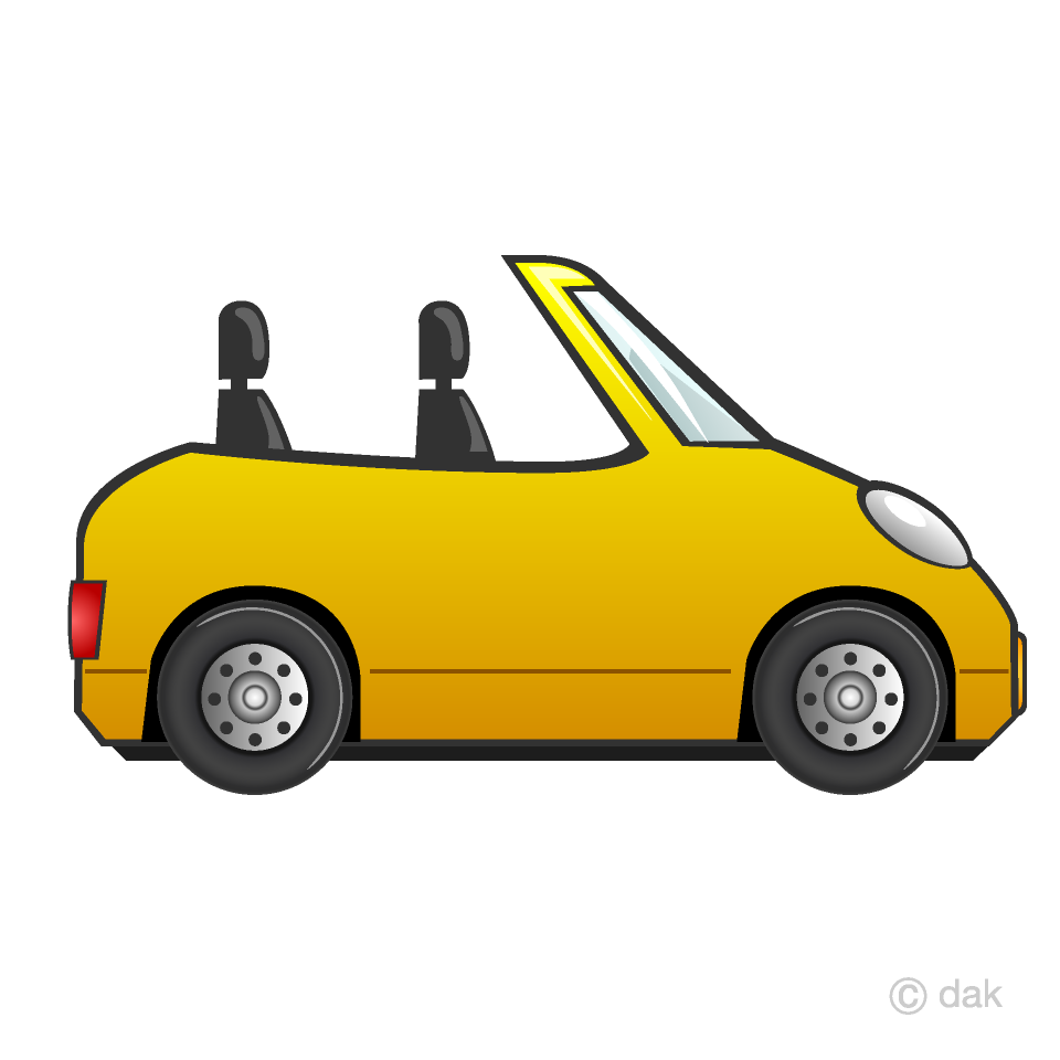 Free Convertible Car Clipart Image|Illustoon.