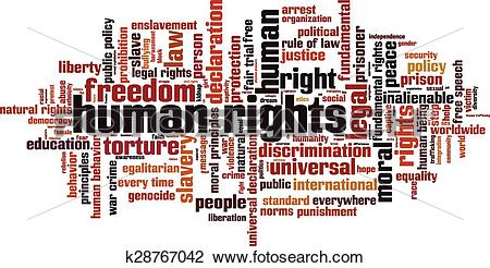 Clipart of Human rights [Converted].eps k28767042.