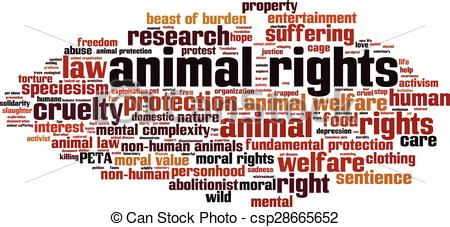 Clipart Vector of Animal rights.