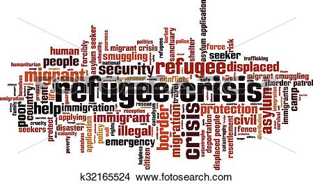 Clipart of Refugee crisis [Converted].eps k32165524.