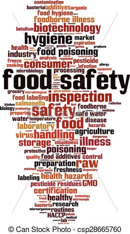 Clip Art Vector of Food safety.