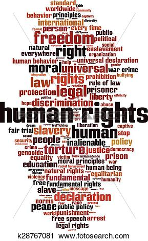 Clipart of Human rights.
