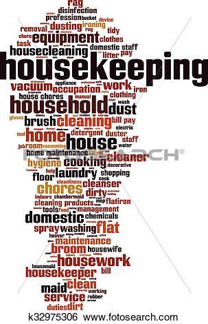 Clip Art of Housekeeping.