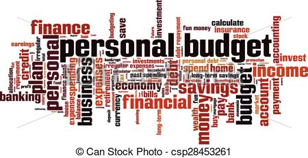Clip Art Vector of Personal budget [Converted].eps.